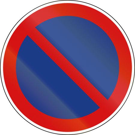 prohibition: Un panneau d'interdiction Slovène - Pas de parking. Banque d'images