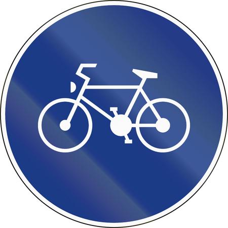 ciclos: Eslovenia señal de tráfico - Ruta por solo ciclos de pedal.