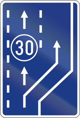 slow lane: Slovenian road sign - Slow vehicle lane.