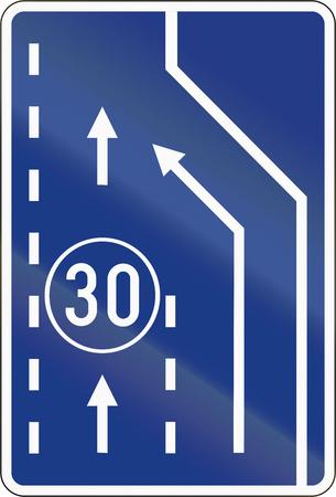 slow lane: Slovenian road sign - End slow vehicle lane.
