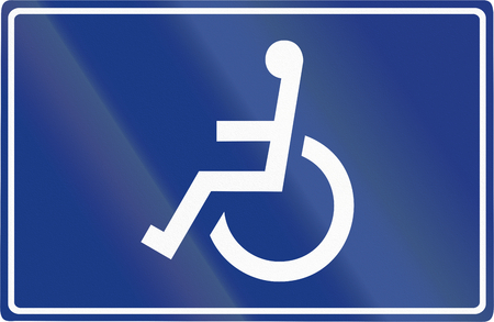 disabled parking sign: Slovenian road sign - Disabled parking.