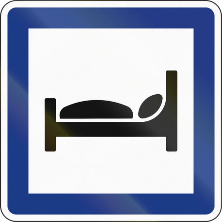 overnight stay: Slovenian service road sign - Rental beds.
