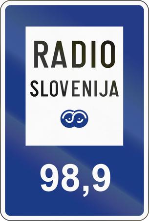 slovenian: Slovenian guide road sign - Radio information.