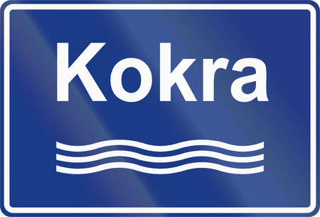 slovenian: Slovenian road sign - River sign with name.