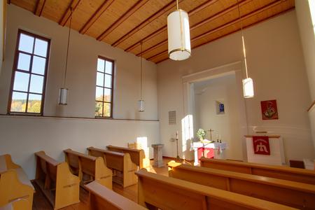 bible altar: Indoor shot of church in Rassdorf, Hesse, Germany.