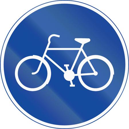 ciclos: La señal de tráfico utilizado en Suecia - Pista para bicicletas y ciclomotores.