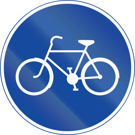 cicla: Road sign used in Sweden - Track for cycles and mopeds.