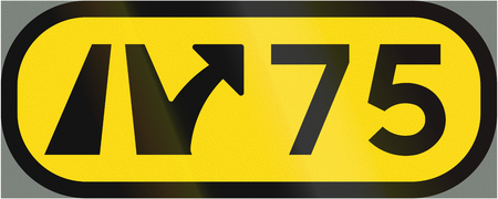 interchange: Road sign used in Sweden - Interchange number. Stock Photo