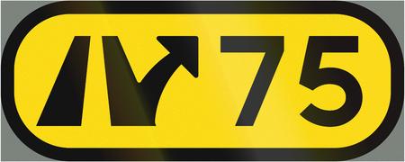 interchange: Road sign used in Sweden - Interchange number. Stock Photo