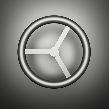 raytracing: Computer generated image of a metal rotary handle.