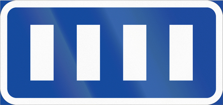 configuration: Road sign used in Sweden - Parking configuration.