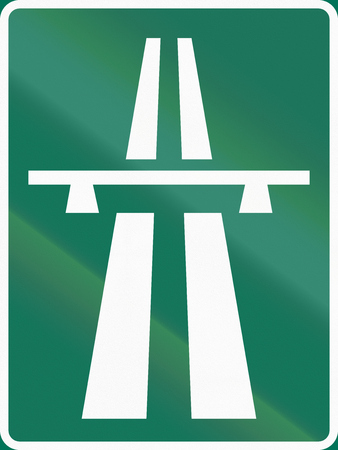 two lane highway: Road sign used in Sweden - Motorway.