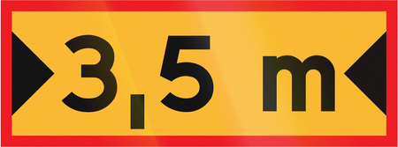 lateral: Road sign used in Sweden - Lateral clearance.
