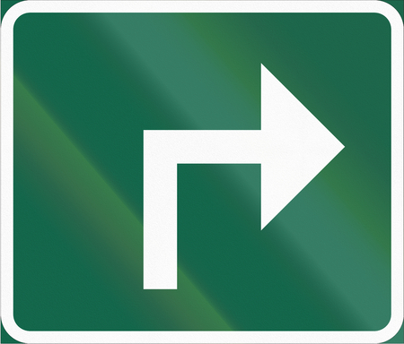 scandinavia: Road sign used in Sweden - Direction sign.