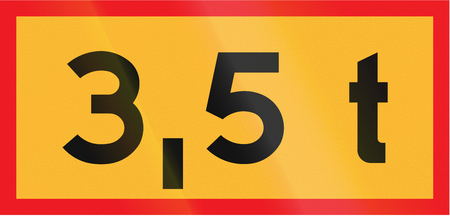 auxiliary: Road sign used in Sweden - Total weight.