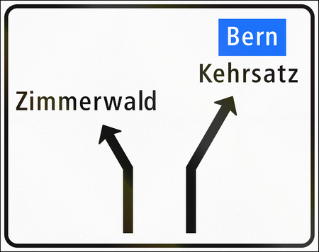 approaches: Road sign used in Switzerland - Approaches to junctions on minor road.