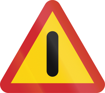 general warning: Road sign used in Sweden - Other dangers.