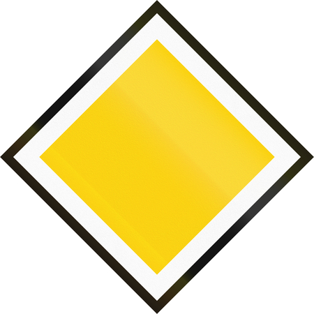 diamond shape: Road sign used in Sweden - Priority road.