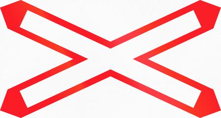 railtrack: Road sign used in Switzerland - Level crossing location.