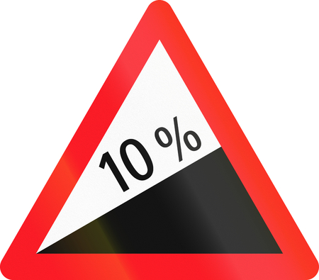 uphill: Warning sign used in Switzerland - heavy uphill grade.