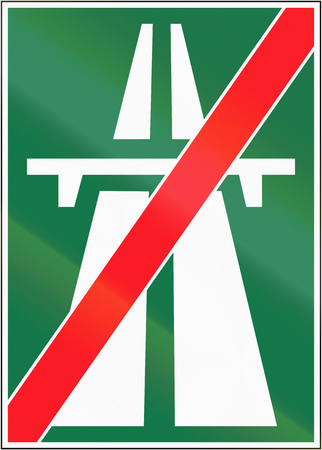 motorway: Road sign used in Switzerland - End of motorway.