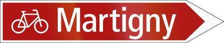 ciclos: La señal de tráfico utilizado en Suiza - Ruta de los ciclos.