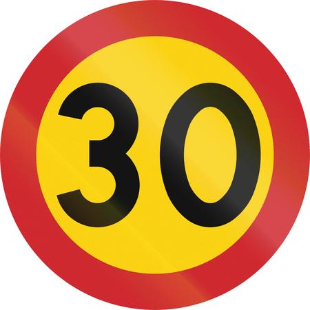 maximum: Road sign used in Sweden - Maximum speed.