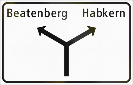 minor: Road sign used in Switzerland - Approaches to junctions on minor road.