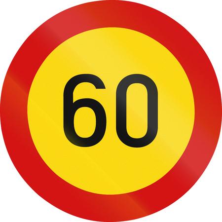 zimbabwe: Regulatory road sign in Zimbabwe - Speed limit.