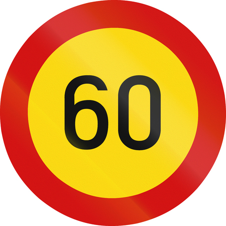 zimbabwe: señal de tráfico reguladora en Zimbabwe - límite de velocidad.