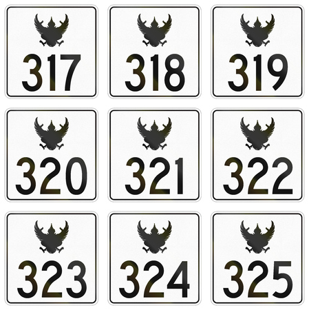 federal: Collection of federal highway shields used in Thailand.