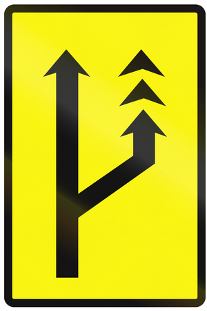 slow: Road sign used in Slovakia - Slow lane (temporary).