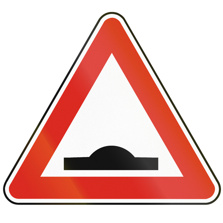 bump: Road sign used in Slovakia - Speed bump.