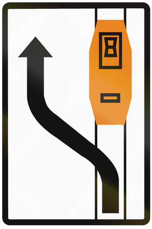 overtaking: Road sign used in Slovakia - Tram overtaking.