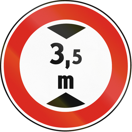 Road sign used in Slovakia - Height limit.