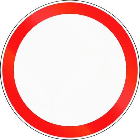 road closed: Road sign used in Russia - No thoroughfare. Stock Photo