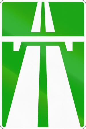 motorway: Road sign used in Russia - Motorway.