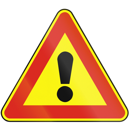 eastern europe: Road sign used in Slovakia - Other hazards (as a temporary sign).