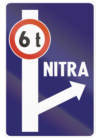 detour: Road sign used in Slovakia - Weight restriction and detour.