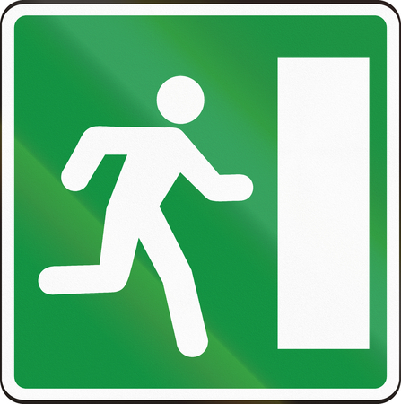 emergency exit: Road sign used in Slovakia - Emergency exit.