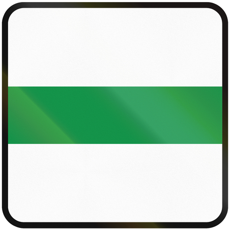 eastern europe: Road sign used in Slovakia - bypass marker.