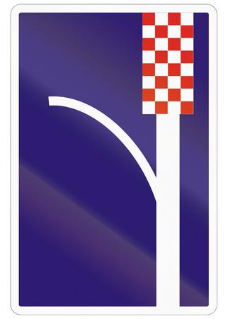 emergency lane: Road sign used in Slovakia - Emergency lane.