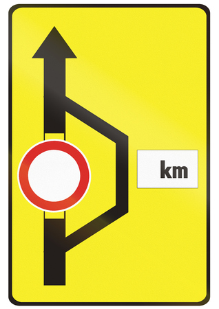 detour: Road sign used in Slovakia - Detour.