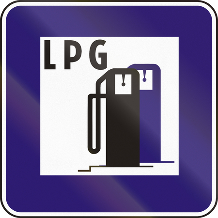 lpg: Road sign used in Slovakia - LPG supply.