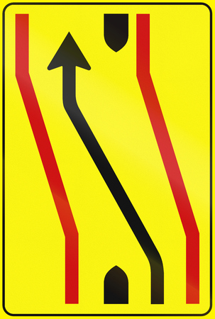median: Road sign used in Italy - Road deviation.