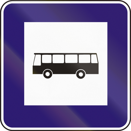 eastern europe: Road sign used in Slovakia - Bus Stop.