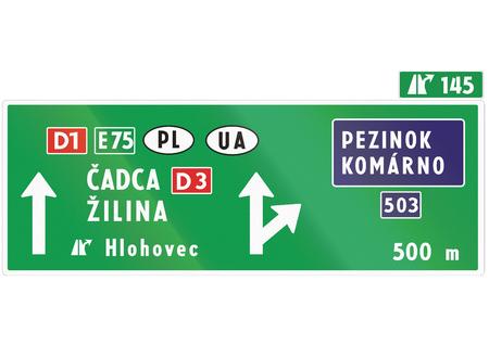 slovakia: Road sign used in Slovakia - .