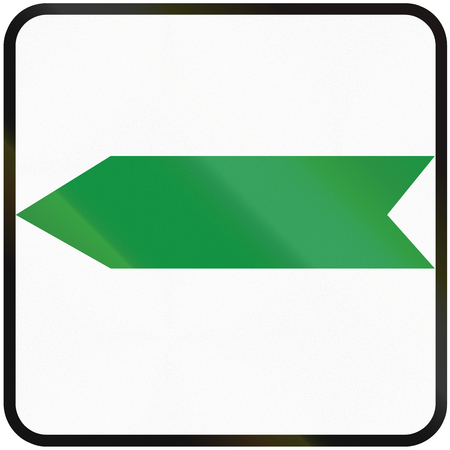 deviation: Road sign used in Slovakia - Bypass marker.