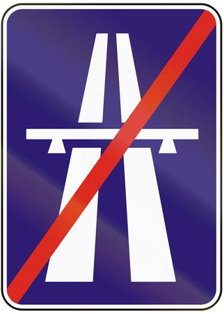 motorway: Road sign used in Slovakia - End of motorway.