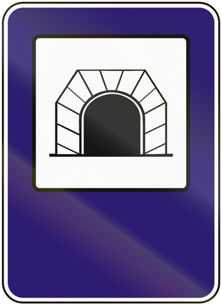 road tunnel: Road sign used in Slovakia - Tunnel.